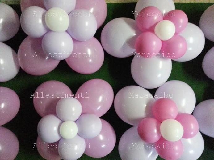 Composizione palloncini a fiore 2 strati