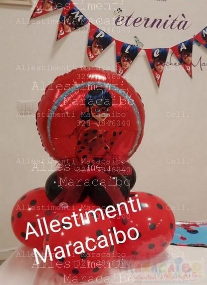 Lady bug Allestimento mylar addobbi feste compleanni matrimoni Maracaibo eventi sagre tavolo torta (22)