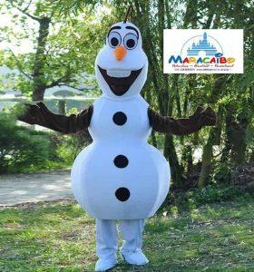 Mascotte Olaf Maracaibo professionale noleggio animazione bambini feste a-min
