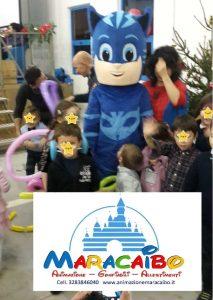Mascotte professionale Pigiamini Pj Mask Gatto Boy noleggio animazione bambini feste a-min
