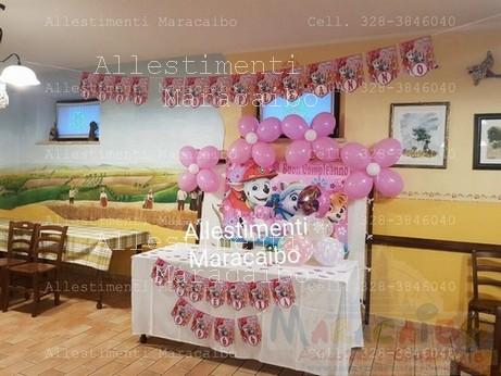 Paw Patrol Allestimento Allestimenti addobbi feste compleanni matrimoni Maracaibo eventi sagre tavolo torta (22)