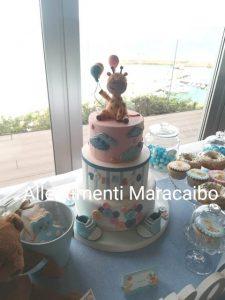 Sweet table allestimento addobbo tavolo torta compleanno battesimo cerimonia evento festa