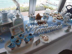 Sweet table allestimento addobbo tavolo torta compleanno battesimo cerimonia evento festa matrimoni