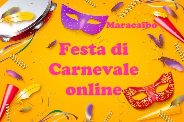 Festa di carnevale online virtuale da casa feste carnevalesche bambini adolescenti adulti